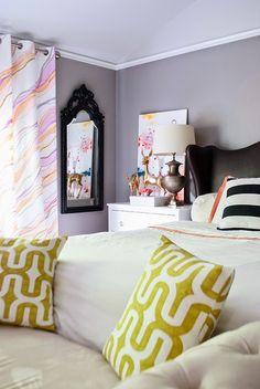 DIY Marble Paper Watercolor Curtain Tutorial |Cuckoo 4 Design