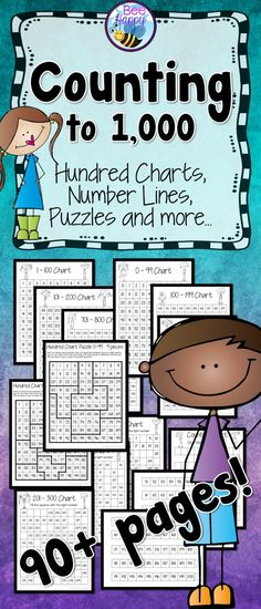 Counting to 1,000 This resource has all the hundred charts you need to teach your students about the number system to 1,000. Whether you prefer to use charts that go from 0 – 99 or 1 – 100, they are all provided. Fill the gap worksheets, a 1 – 1,000 number line to construct, blank counting charts to use for assessment and hundred chart puzzles are all included. These worksheets and activities are suitable for independent, small group and whole class activities. Display the charts on an…