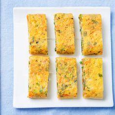 Spinach & Tomato Breakfast Polenta Squares