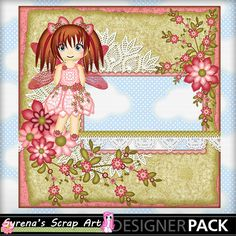 #Fairy Rose Quick Page digital #Scrapbooking http://www.mymemories.com/store/display_product_page?id=SESA-QP-1407-64167&r=syrenasscrapart
