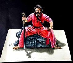 Bahubali 2 - Drawing Prabhas - 3D drawing of Prabhas   Realistic drawing Prabhas   Drawing Devasena - Anushka Shetty   Incredible scene of Bahubali 2 3d Drawings, Realistic Drawings, Colorful Drawings, Bahubali Movie, Bahubali 2, Prabhas And Anushka, Prabhas Actor, Prabhas Pics, Hanuman Images