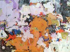 "Orange Segments 30""x40"" acrylics/canvas"