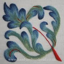 Resultado de imagem para long & short stitch embroidery