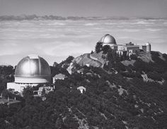 Domes of the 120-Inch Reflector, the 36-Inch and the 12-Inch Refractors, Lick Observatory, Mount Hamilton (1964-07)