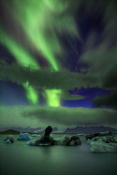 Aurora Borealis - Northern Lights Jokulsarlon Lagoon - Iceland This is definitely on the bucket list!