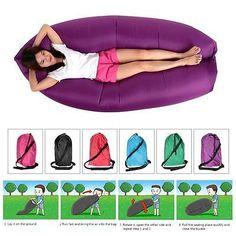 Tragbar Schlafsack Liege Aufblasbare Lounger Klappbare Sofa Schlafen Rest X3D0 in Sport,Camping & Outdoor,Schlafausrüstung | eBay