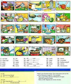 La preparación de alimentos y recetas vocabulario   Aprendizaje de Inglés Básico, a lo largo de 700 On-Line Lecciones avanzada y Ejercicios gratis   Scoop.it