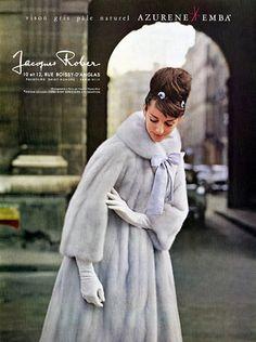 Jacques Rober (Fur Clothing) 1962 Photo Virginia Thoren Vintage advert Home photography by Virginia Thoren | Hprints.com