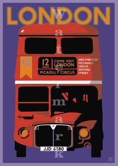 Vintage Travel Poster London 11X17 | eBay