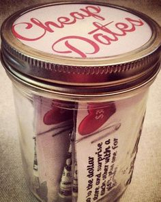 Valentine Gift Ideas Cheap Dates - Click Pic for 40 DIY Valentine Gift Ideas for Husband