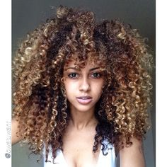 Curls color style volume
