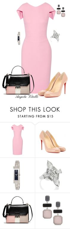 """Untitled #614"" by angela-vitello on Polyvore featuring Antonio Berardi, Christian Louboutin, Gucci, Oasis and Chico's"