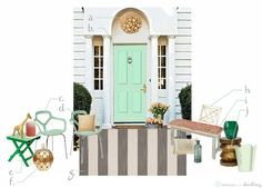 Color inspiration for May's Front Door, Delineate Your Dwelling