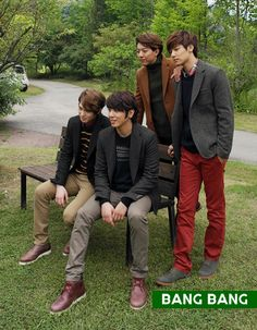 CNBLUE FOR BANG BANG F/W 2013 CAMPAIGN ♡ #CNBLUE