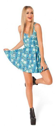 Black Milk Adventure Time BMO Scoop Skater Dress