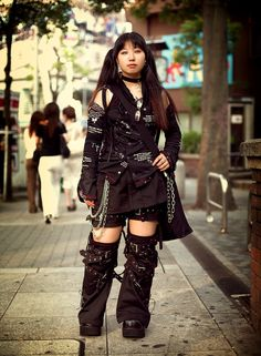 this outfit is way too badass not to pin I gotta get me some of those boots. o_o