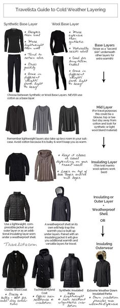 How to pack for cold weather...layers people! A little late now that we're in spring but there's always next time! // Fashion Style Ideas & Tips