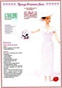 Robe de mariée pour Barbie au crochet