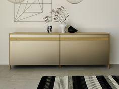 Sideboard aus farbigem Glas mit Schiebetüren MYLON Kollektion Mylon by TEAM 7 Natürlich Wohnen | Design Jacob Strobel