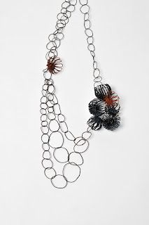Katie Owen - neckpiece - plastic coated steel wire