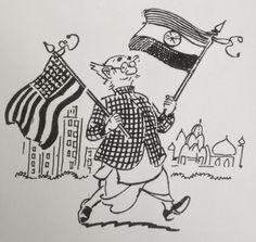 R.K. Laxman's Cartoons: USA - India relations