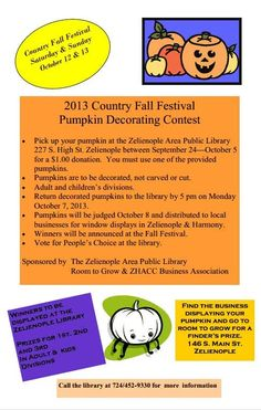 Pumpkin decorating contest rules games fundraising for Office design rules