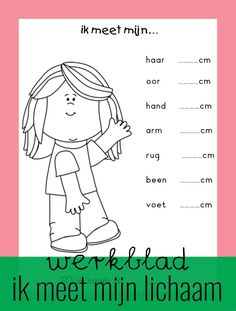 Worksheet: I measure my body - Back to School First Day Of School, Pre School, Back To School, School Teacher, Primary School, Phonics Chart, School Readiness, Newborn Care, Creative Kids