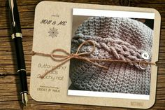 Buttons and Braids Slouchy Hat