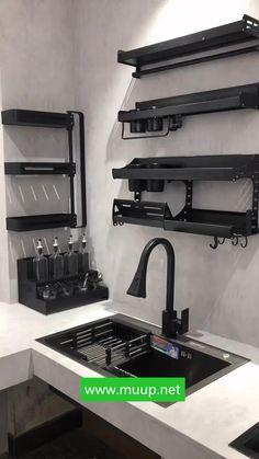 Kitchen Cupboard Designs, Kitchen Room Design, Diy Kitchen Storage, Home Room Design, Modern Kitchen Design, Home Decor Kitchen, Bathroom Interior Design, Kitchen Interior, Home Decor Furniture