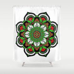 Meditation Abundance Flower Shower Curtain by azima Zen Colors, Flower Shower Curtain, Reiki Meditation, Summer Of Love, Sacred Geometry, Abundance, Pilates, Boho Fashion, Tapestry