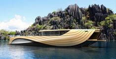 Simone Madella and Lorenzo Berselli have designed the solar and wind-powered Cronos Yacht that is made entirely out of bamboo panels Yacht Design, Boat Design, Speed Boats, Power Boats, Cool Boats, Floating House, Yacht Boat, Boat Building, Green Building