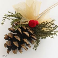 Christmas Tree Ornament Pine Cone Ornament Christmas by Lot450shop