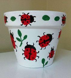 Ladybug Terra cotta Pot Craft