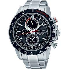 Seiko Sportura Solar chronograaf met datum en alarm