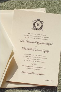 Classic wedding invitations. Photo by Spindle Photography. www.wedsociety.com #wedding #invitations