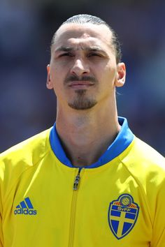 Zlatan Ibrahimovic of Sweden looks on during the national anthem prior to the UEFA EURO 2016 Group E match between Italy and Sweden at Stadium Municipal on June 17, 2016 in Toulouse, France.