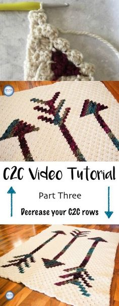 This video tutorial will teach you the C2C stitch using half double crochet. Learn how to finish your c2c blanket. This video was recorded to support my Fallen Arrows Blanket CAL, a free crochet pattern available at Left in Knots