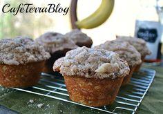 Boozy Banana Walnut Muffins {with Banana Chobani Greek Yogurt!}