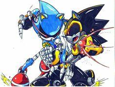 Two Sonic Robots | Metal VS Shard