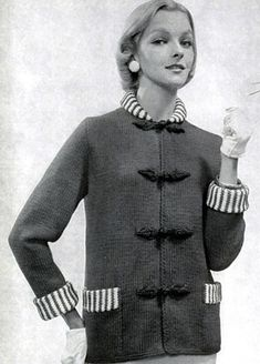 NEW! Jacket knit pattern from 21 Bulky Styles Featuring Quick Little Jackets, Book No. 51, by Bernat Handicrafter in 1956.