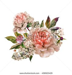 Image result for botanical drawing bouquet