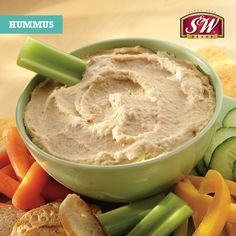 Hummus makes the perfect after school snack - and it's easy to make!