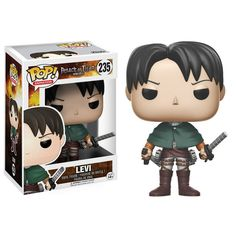 Attack on Titan Levi Pop! Vinyl Figure from Funko. Perfect for any Company_Funko Product Type_Pop! Vinyl Figures Theme_Attack on Titan fan! Levi Ackerman, Levi X Eren, Levi Titan, Pop Vinyl Figures, Funko Pop Figures, Attack Titan, Attack On Titan Merch, Anime Figures, Action Figures