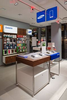 Phone Shop | Retail Design | Retail Display | Vodafone flagship store by KMS BLACKSPACE, Cologne store design