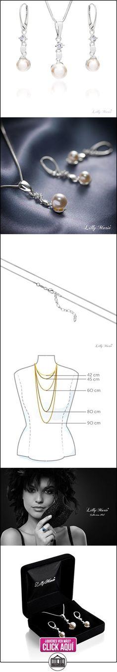 LillyMarie Conjunto de joyas para mujer plata de ley 925, con Elementos Swarovski de perlas, con caja de joyas  ✿ Joyas para mujer - Las mejores ofertas ✿ ▬► Ver oferta: http://comprar.io/goto/B01FUVJ9W8