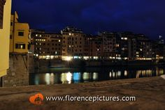 At night along the River Arno  Florence, Italy