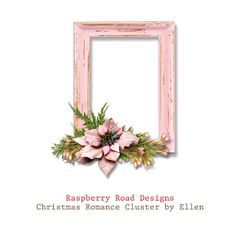 A freebie cluster from CT Ellen using the Christmas Romance collection.