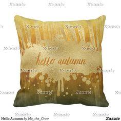 Hello Autumn Throw Pillow