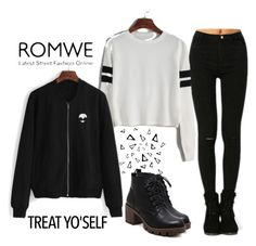 """""""ROMWE - 11/1"""" by thefashion007 ❤ liked on Polyvore featuring Nika"""