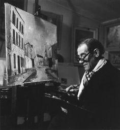 Maurice Utrillo au Vesinet, 1946. Robert Doisneau